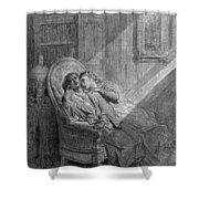 Dor� The Raven, 1882 Shower Curtain