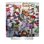 22 Holy Letters Shower Curtain