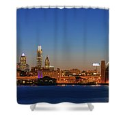 Skyscrapers At The Waterfront Shower Curtain