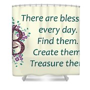 223- Blessings Shower Curtain