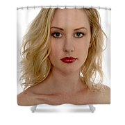 Blond Woman Shower Curtain