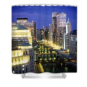 Buildings At The Waterfront Shower Curtain