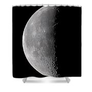 23 Day Old Waning Moon Shower Curtain