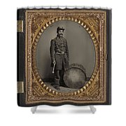 Civil War Soldier, C1863 Shower Curtain