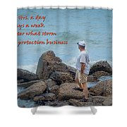 24 Hr Protection Shower Curtain