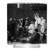 John Wycliffe (1320?-1384) Shower Curtain