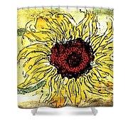 24 Kt Sunflower - Barbara Chichester Shower Curtain
