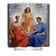 24. The Trinity / From The Passion Of Christ - A Gay Vision Shower Curtain
