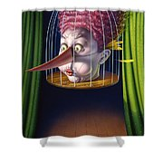 24th Annual Waxdeck's Bird Calling Contest Shower Curtain