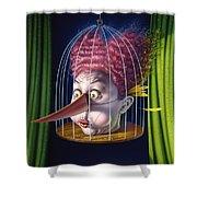 24th Annual Waxdeck's Bird Calling Contest Shower Curtain