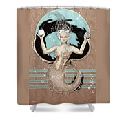 24x36 Choose Mermaid Shower Curtain