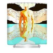 24x36 Reflective Angel Bb Shower Curtain