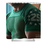 #25 Bicep Color Shower Curtain