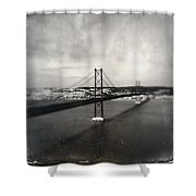 25 De Abril Bridge II Shower Curtain by Marco Oliveira