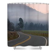 25 Mph At Dusk Shower Curtain