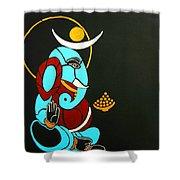 25 Varadavinayaka Ganesh Shower Curtain