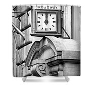 26 Broadway B And W Shower Curtain