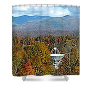 26 East And The Blueridge Panoramic Shower Curtain