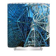 26 East Antenna Abstract 1 Shower Curtain