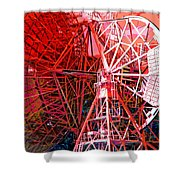 26 East Antenna Abstract 2 Shower Curtain