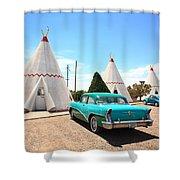 Route 66 Wigwam Motel Shower Curtain