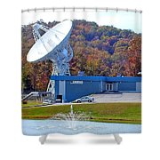 26 West Antenna And Research Building Shower Curtain