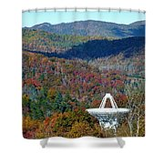 26 West Antenna And The Blueridge Shower Curtain