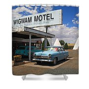 Route 66 - Wigwam Motel Shower Curtain