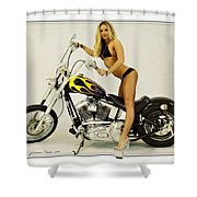 Models And Motorcycles Shower Curtain