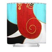 28 Shashwat Ganapati Shower Curtain