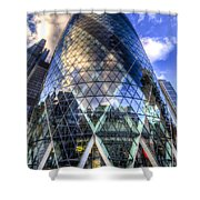 The Gherkin London Shower Curtain