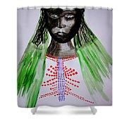 Dinka Bride  - South Sudan Shower Curtain