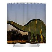 2d Brontosaurus Shower Curtain