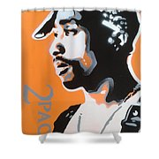 2pac In Orange Shower Curtain
