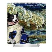 Karelian Bear Dog Art Canvas Print Shower Curtain