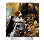 Welsh Springer Spaniel Art Canvas Print Shower Curtain