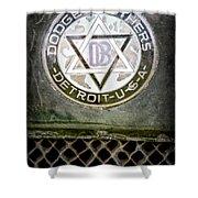 1923 Dodge Brothers Depot Hack Emblem Shower Curtain
