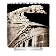1931 Chevrolet Hood Ornament Shower Curtain