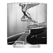 1932 Auburn 12-160 Speedster Hood Ornament Shower Curtain