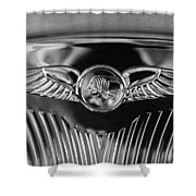 1933 Pontiac Emblem Shower Curtain