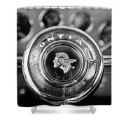 1933 Pontiac Steering Wheel Emblem Shower Curtain