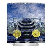 1935 Delage Shower Curtain