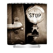 1937 Ford Pickup Truck Taillight Shower Curtain