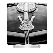 1937 Ford Pickup Truck V8 Emblem Shower Curtain