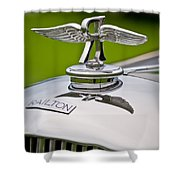 1937 Railton Rippon Brothers Special Limousine Hood Ornament Shower Curtain by Jill Reger