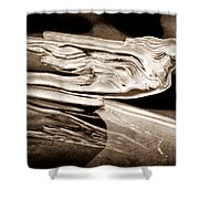 1941 Cadillac Hood Ornament Shower Curtain
