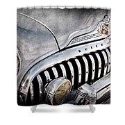 1947 Buick Eight Super Grille Emblem Shower Curtain