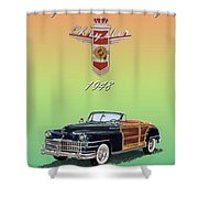 1948 Chrysler Town And Country Shower Curtain