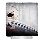 1949 Ford Hood Ornament Shower Curtain