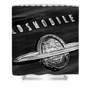 1950 Oldsmobile 88 Emblem Shower Curtain